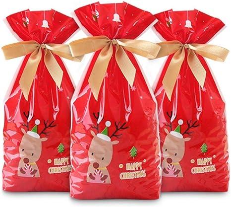 Set of 6-Merry Christmas Drawstring Gift Bags