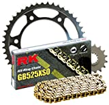 #6: RK Racing Chain 4067-060WG Steel Rear Sprocket and GB525XSO Chain 20,000 Mile Warranty Kit