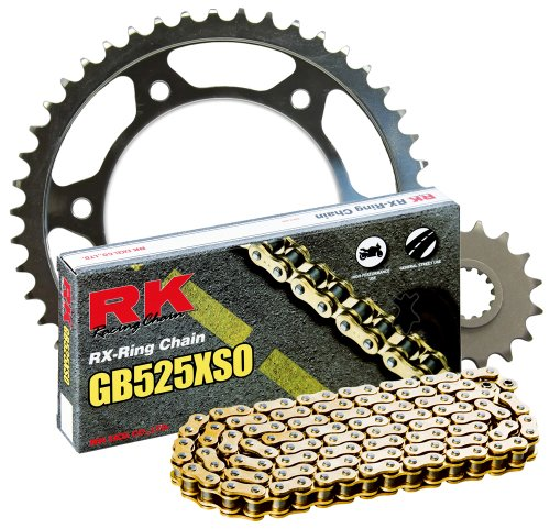 RK Racing Chain 3068-040WG Steel Rear Sprocket and GB525XSO Chain 20,000 Mile Warranty Kit