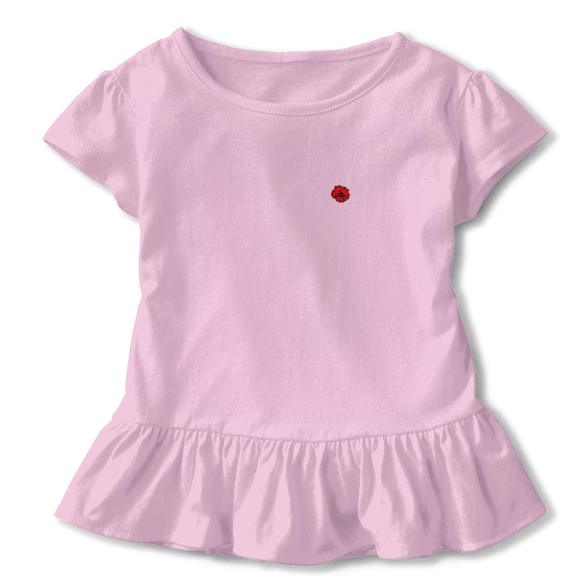QUZtww Rowing Paint Toddler Girls Cute at Front Short Sleeve Casual Summer Baby Children Shirt
