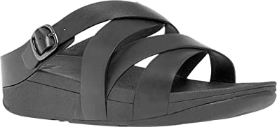 3c4bfd790bbf3f Fitflop Womens The Skinny Crisscross Slide Sandals  Amazon.co.uk ...