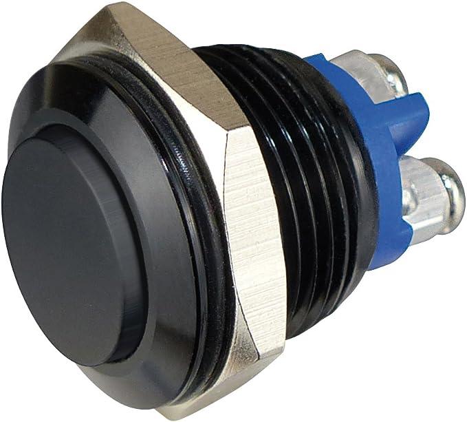 Sintron Connect Aluminiumtaster 16 Mm 1 X Schliesser Schwarz Tastkopf Flach Elektronik