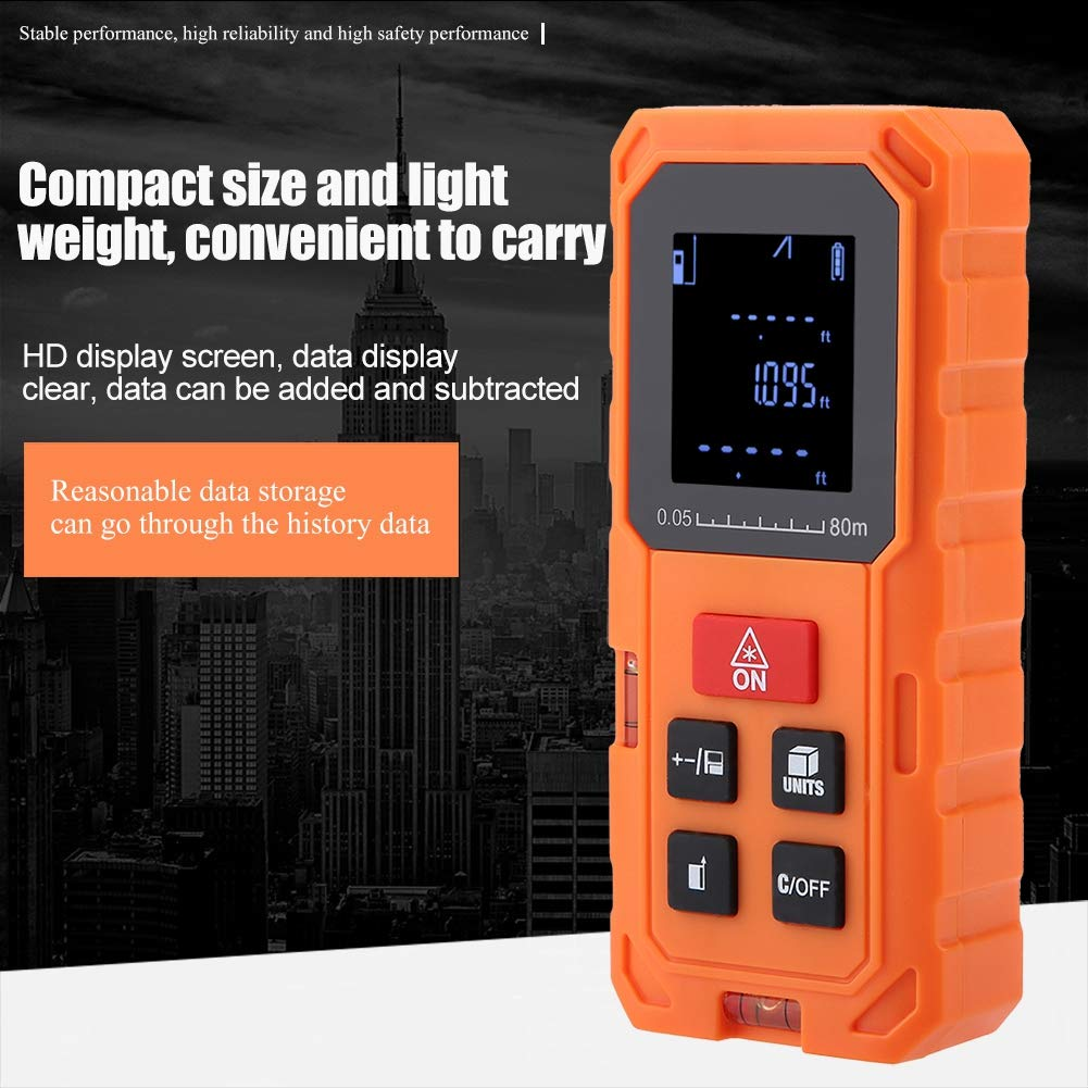 medidor de distancia L/áser Buscador de rango Cinta Distancia Medida S80 Tel/émetro de l/áser digital