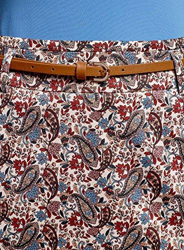 Gonna Cintura Multicolore Donna 2079e Dritta con oodji Collection qRfEYpXwWP