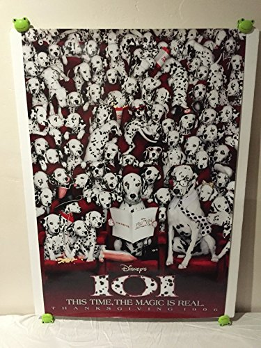Walt Disney 101 Dalmatians Movie Theatre Poster 27x40 One Sheet Rare 1996 Dog Thanksgiving Release