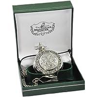 Mullingar Pewter Pocket Watch With Celtic Design And Border
