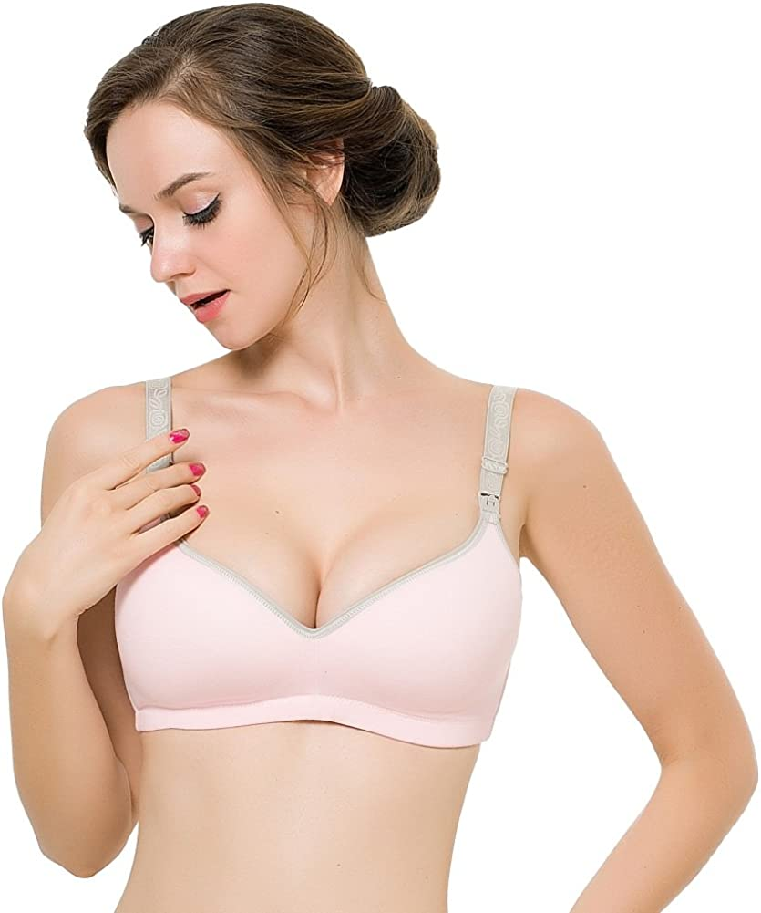 Sungpunet Women Maternity Wireless Seamless Push Up Breastfeeding Nursing Bra