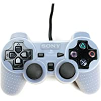 Playstation 2 Silikon Schutzhülle Controller Hülle für PS2 Transparent/Weiß