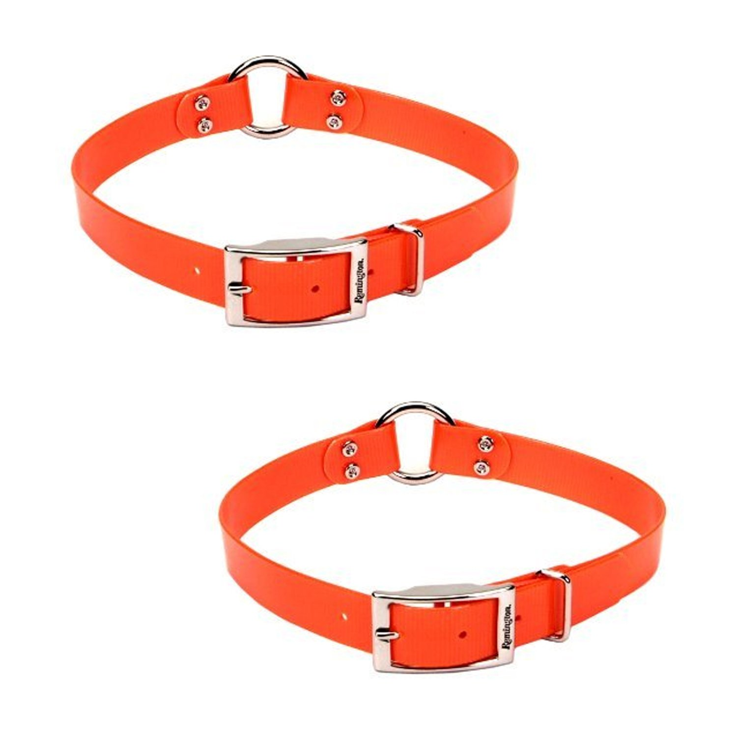 2-Pack Remington orange 1-Inch by 20-Inch Waterproof Dog Collar (2-Pack)