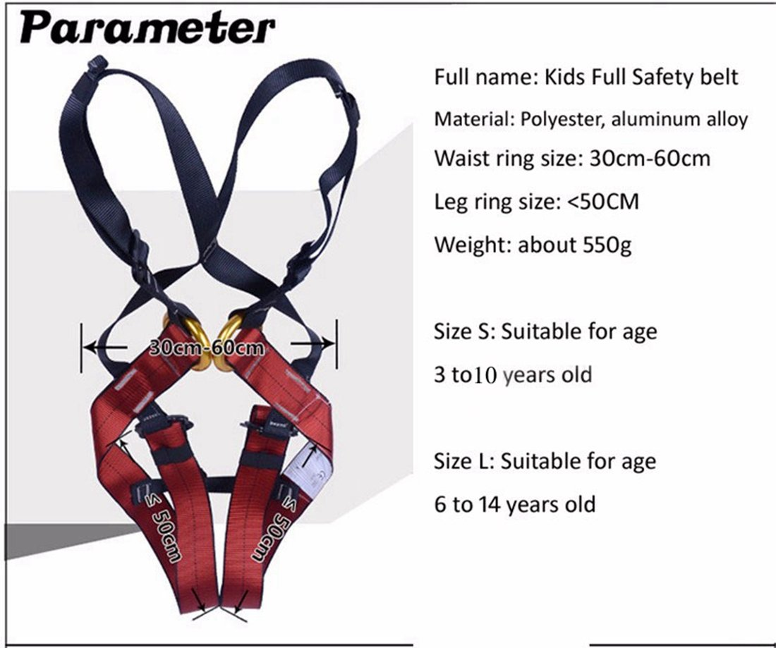 Imbracatura per arrampicata da bambino Dometool arrampicata sulle rocce per parco giochi completa