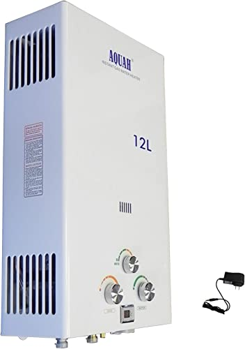 AQUAH Indoor Natural Gas Tankless Water Heater 12L 3.2 GPM