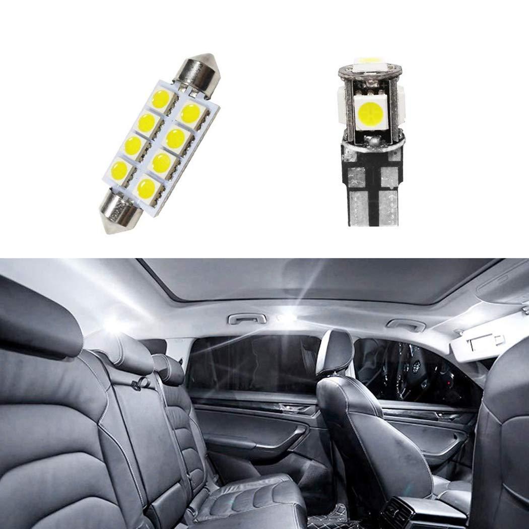 Pour Golf5 MK5 LED Lampe Ampoules Blanc Wedge Int/érieur De Voiture Lumi/ère D/ôme Feux De Plaque Dimmatriculation Canbus Anti Erreur 12V Pas De Polarit/é Con/çu 9 Pi/èce