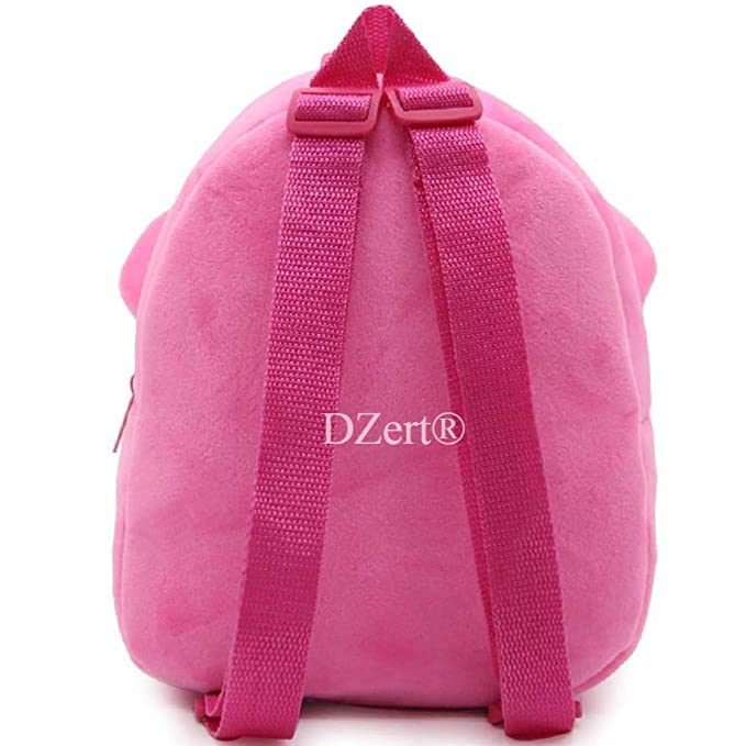 DZert Minnie kids bags For School Baby/Boys/Girls Velvet Backpack (Pink