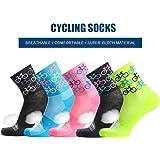 Cycling Socks size 6-11,Blue Pink Orange Cosmic Socks 6 Easy Tiger Black Yellow
