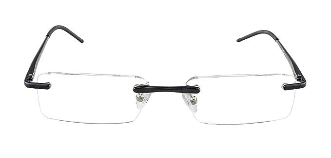 f7ccd4660a Gafas de lectura Edison & King - Gafas sin montura de aluminio con bisagras  de muelle de diferentes grosores y colores: Amazon.es: Deportes y aire libre