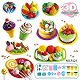 Mitlfuny Play Dough Mold Set Ice Cream Ice Lolly Cake Soft Clay Plasticine Kids Toy Gift for Boys and Girls