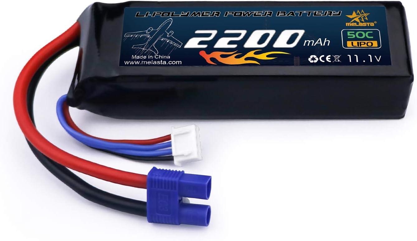 Bateria LIPO 50C 3S 2200mAh 11.1V conector EC3 102x34.5x24mm