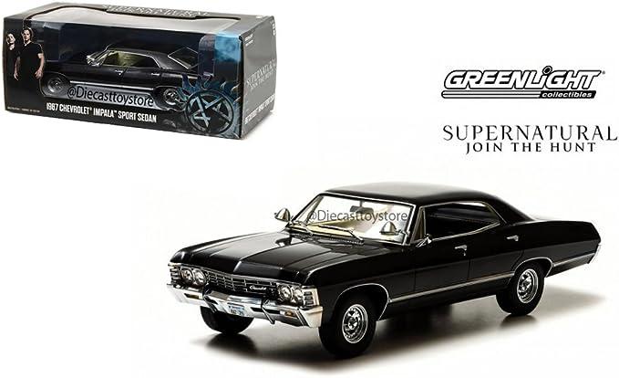 1:18 Greenlight 1967 CHEVY IMPALA SUPER SPORT SEDAN est Movie Super Natural
