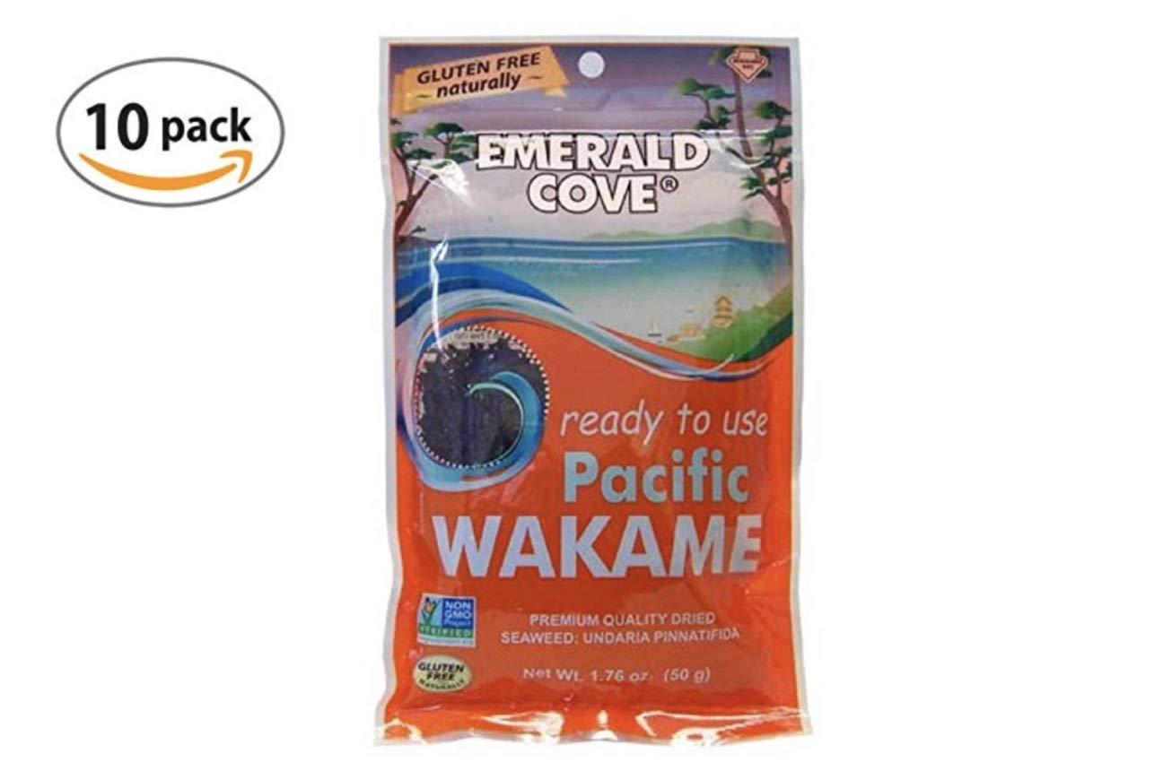 Emerald Cove Silver Grade Wakame (Dried Seaweed), 1.76 Ounce Bag (10) by Emerald Cove (Image #1)