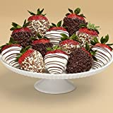 Shari's Berries - Full Dozen Gourmet Dipped Fancy Strawberries - 12 Count - Gourmet Baked Good Gifts