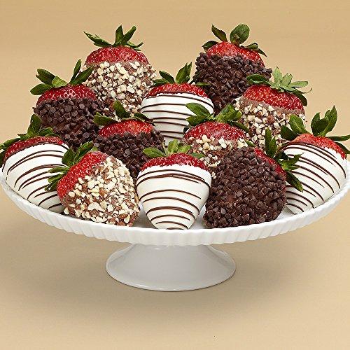 Shari's Berries - Full Dozen Gourmet Dipped Fancy Strawberries - 12 Count - Gourmet Baked Good Gifts