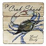 blue crab decor - Blue Crab Shack Fresh Daily Wood Wall Sign 11.5 inches