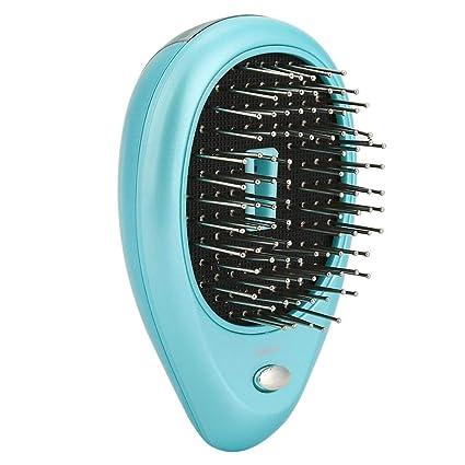 Cepillo de pelo iónico eléctrico portátil, Mini peine del cepillo de pelo, Cepillo de