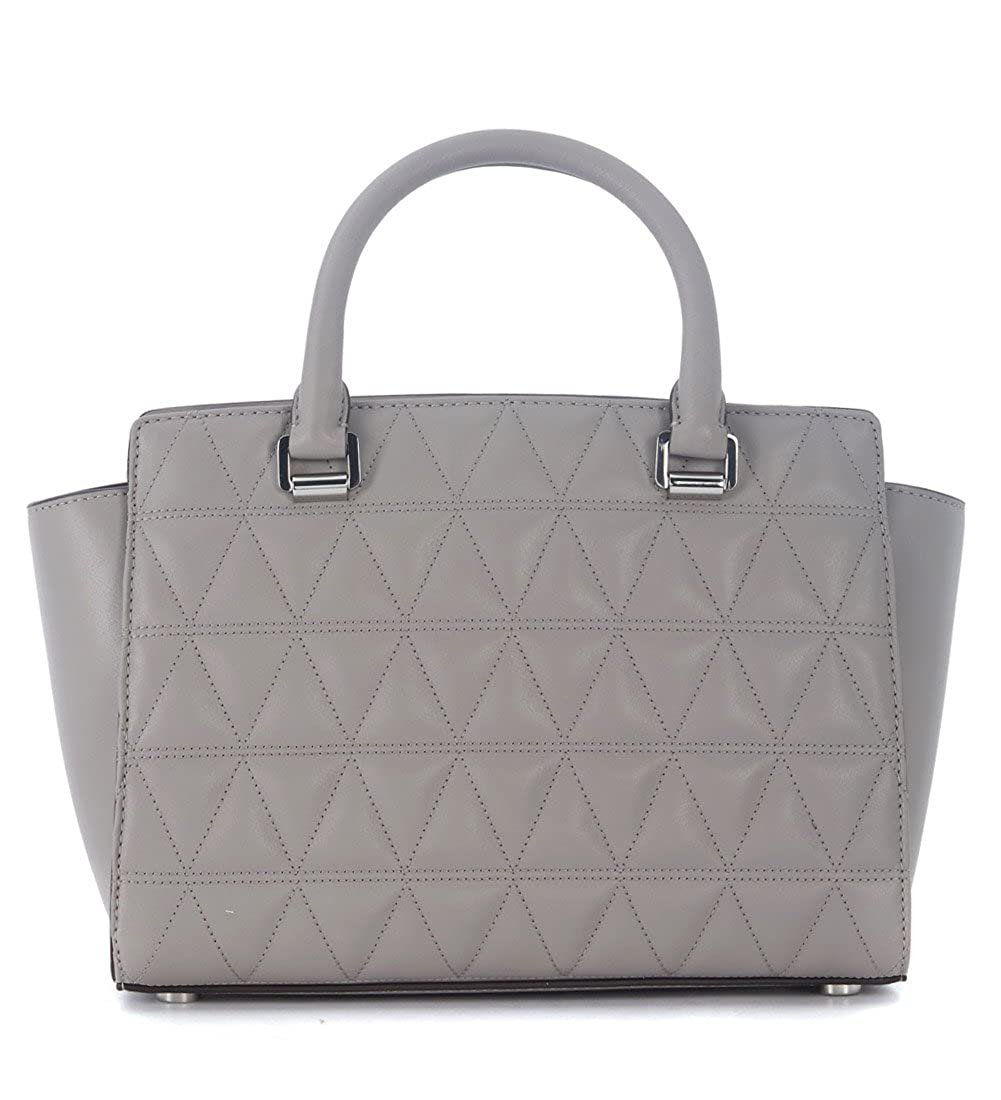 448662d325be Amazon.com  Michael Kors Women s Selma Medium Top Zip Satchel (Pearl Grey  Grommet)  Shoes