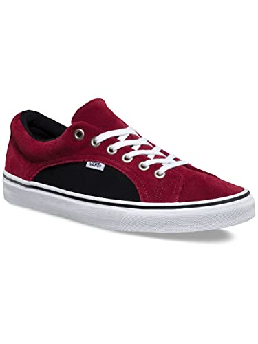 f889397886 Image Unavailable. Image not available for. Color  Vans Lampin Mens 11.5 Two  Tone Suede Port Royale Red Black Skate Shoes