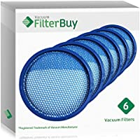 6 - Hoover Air Cordless Filters. Designed by FilterBuy to fit All Hoover Air Cordless BH50150 Upright Vacuum Cleaners.