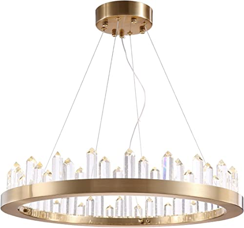 Siljoy K9 Crystal Chandelier Lighting Modern Ring Pendant Light