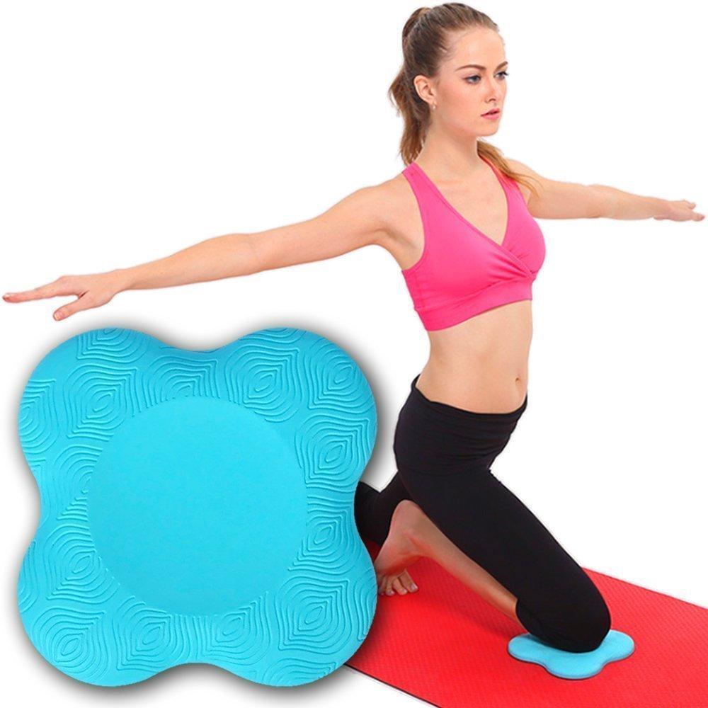 Gentoo Colchonetas de Yoga Antideslizante Fitness Pad Estera De Yoga Acolchada Estera para Rodillera Muñeca Manos y Codos 2 Piezas