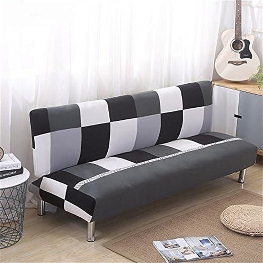 DISCOVERY Funda de sofá Cama Futon Protector Plegable sin Brazos elástico Spandex Moderno Simple Sala de Estar Fundas de sofá, Color-1, 160-190cm