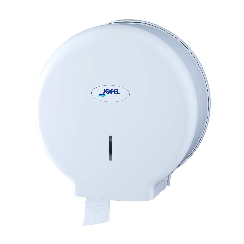 Jofel AE57000 - Dispensador de papel en rollo, rollos de 45 mm diámetro, color blanco