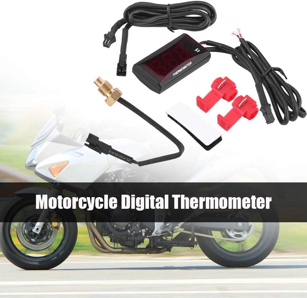 Motorrads Wassertemperaturzähler Fydun Motorrad Digital Thermometer Wassertemperaturanzeige Meter Für Racing Roller Rote Hintergrundbeleuchtung Auto