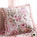 European-style garden Cushion cover/Including heart pillow/Sofa cushions/Office lumbar pillow/Square pillow-E 55x55cm(22x22inch)VersionB