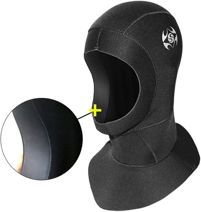 3mm Wetsuit Hat Hood Unisex Neoprene Scuba Diving Cap Warm Snorkeling Divers Hat Waterproof/Black for Surfing Kayaking Sailing Canoeing Water Sports