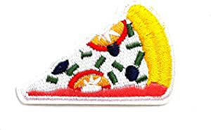 Italian Pizza Cheese Pepperoni Fast Food Junk Food Cartoon Children Kid Patch Clothes Bag T-Shirt Jeans Biker Badge Applique Iron on/Sew On Patch