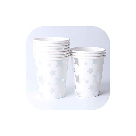Amazon.com: Juego de 10 platos de papel desechables de color ...