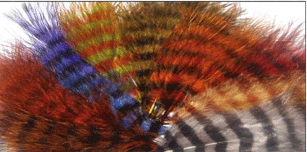 """/"""" Yellow//Black /""""  Blood Quill  FREE SHIPPING 1//8 oz BARRED MARABOU FEATHERS"""