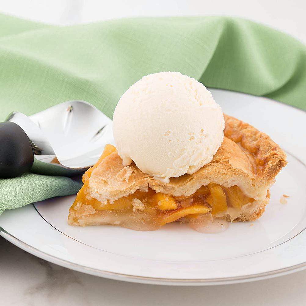 Cuchara de Helado Chef con Mango c/ómodo Cuchara de Helado para Helado Resistente y Apto para lavavajillas Negro Rsoamy Cuchara de Helado