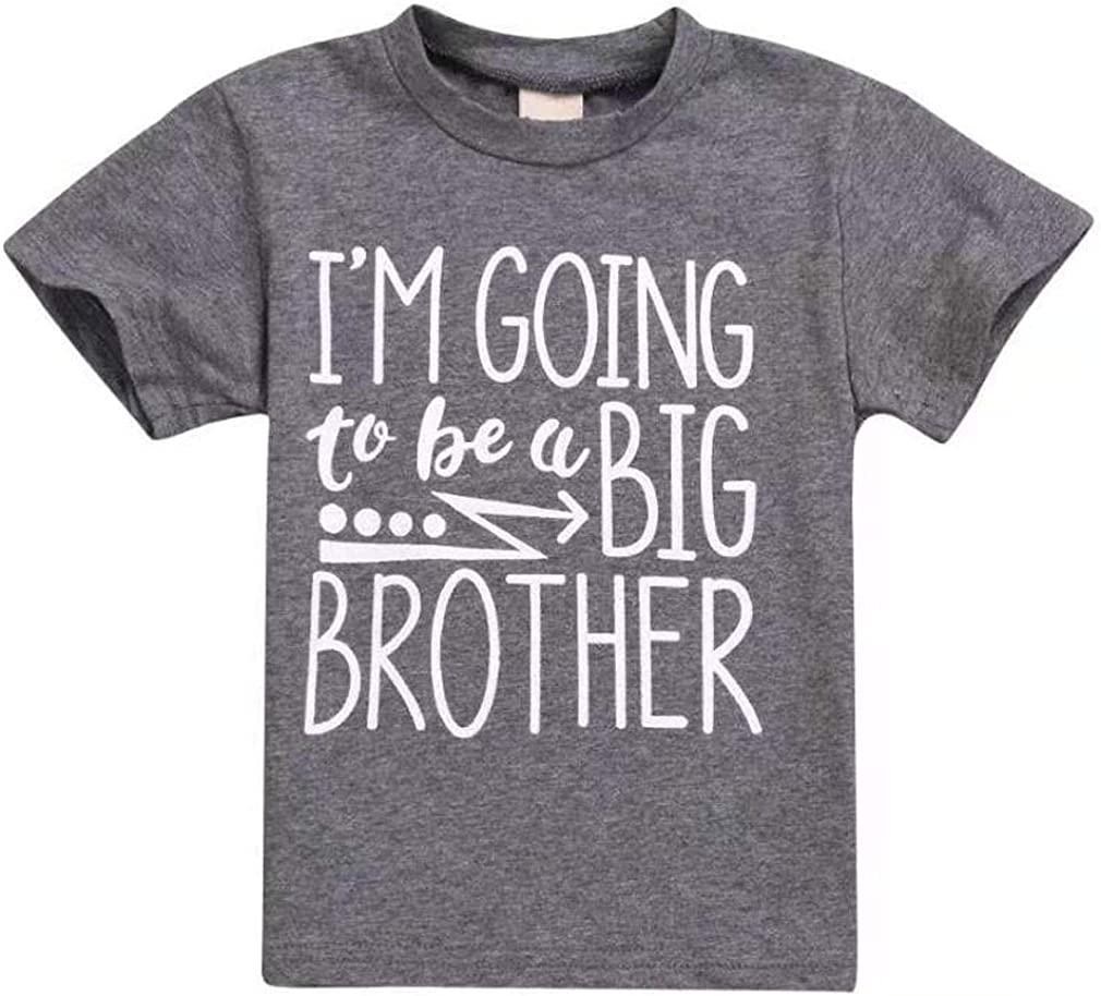Toddler Kids Baby Boy Tee Im Going to Be A Big Brother T-Shirt Short Sleeve Tops