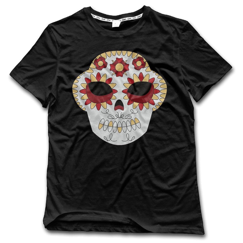 ESSES Sugar Skull Mens Crew Neck T-Shirt Black