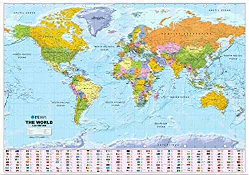Buy scottish world map political 130m scale plastic coated wall buy scottish world map political 130m scale plastic coated wall map book online at low prices in india scottish world map political 130m scale gumiabroncs Choice Image