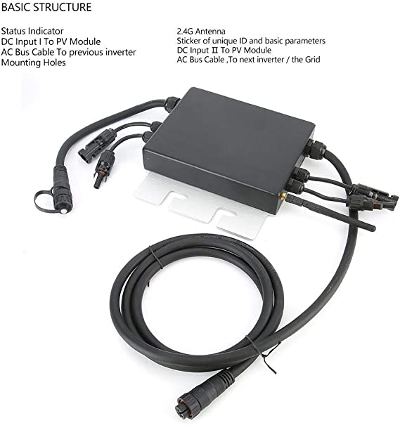 Solar Wechselrichter Sg600md 120v 230v Micro Solar Wechselrichter Ip65 Wasserdichter Gitter Wechselrichter 600w Micro Solar Inverter Mini Solarwechselrichter Mit Netzanschluss Ip65 600w Beleuchtung