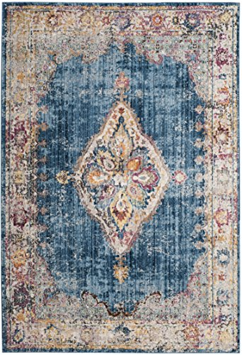 Safavieh Bristol Collection Area Rug, 6 x 9 , Blue Ivory