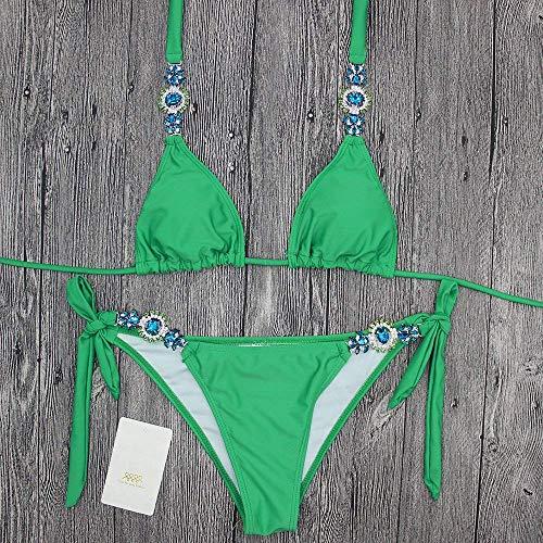 Fascia Per Costume Bikini E Verde Bikini S In S Fuweiencore colore Da Dimensione Diamanti A Fasciatura Il Divisa Stati Uniti Bagno europa S5WtqPw