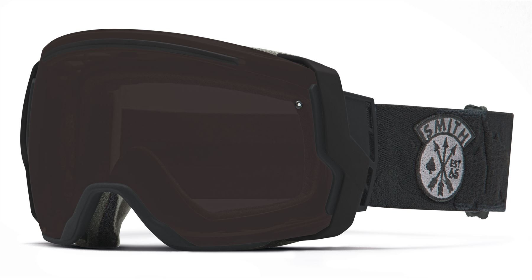 Smith Optics I/O7 Vaporator Series Snocross Snowmobile Goggles Eyewear - Black Sabotage/Blackout/Red Sensor / Medium by Smith Optics