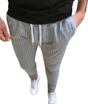 VPASS Pantalones Hombre, Chándal de Hombres Impresión de Rayas ...