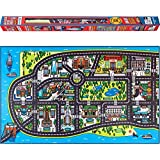 Play Mat for Kids. A Large, Road and Car Rug with map of New York City. Unique, Educational, Floor Playmat for Children, Toddlers. Ideal mats for Cars, Toys, in a Playroom, Bedroom or Activity Room